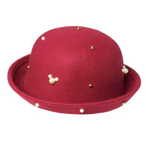 Fashionable Style Autumn Elegant  Hat Floppy Winter Hat Bowler Hat  Wide Brim Hat  for  Girl