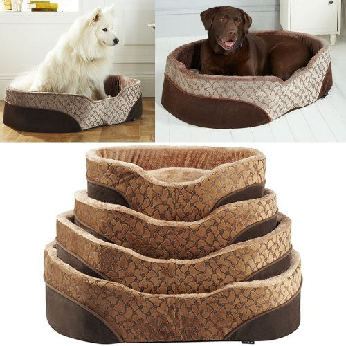 Bunty Mocha Dog Bed | Soft Washable Pet Bed