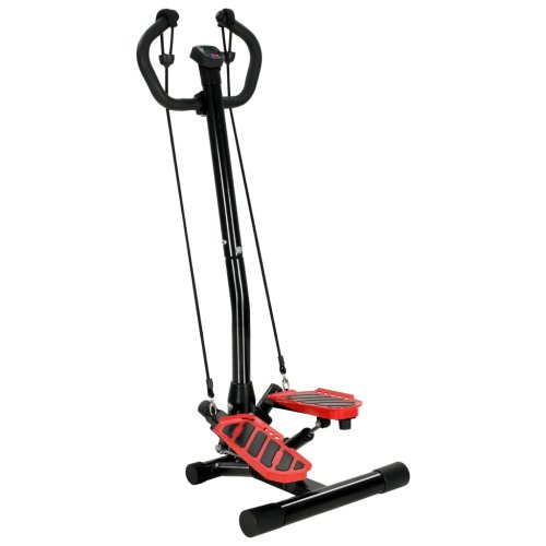 vidaXL Swing Stepper with Centre Post and Resistance Cords Home Gym Fitness
