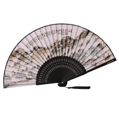 [Chinese & Japanese] Retro Silk Hand Fan Portable Folding Fan Handheld Fan NO.13