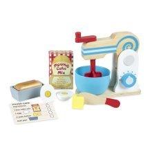 Melissa & Doug 9840 Wooden Make-a-Cake Mixer Set - New, Sealed