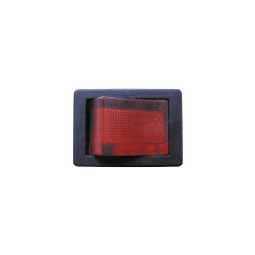 Mini Rocker Switch - Red Illuminated