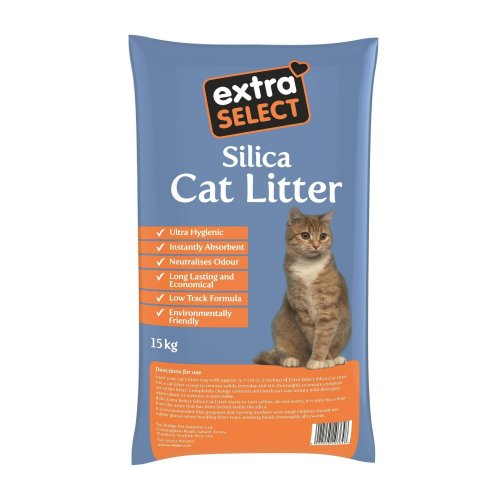 Extra Select Silica Cat Litter, 15 kg