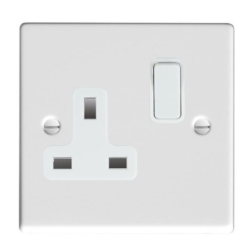 Hamilton, Vogue 1 Gang Double Pole Switched Socket 13A