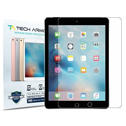 iPad Air Screen Protector Tech Armor High Definition HD Clear Apple iPad Air Air 2 NEW iPad 9 7 2017 Film Screen Protector 2 Pack