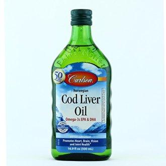 Carlson Norwegian Cod Liver Oil Regular Flavor 16.9 Fl Oz (500 Ml)