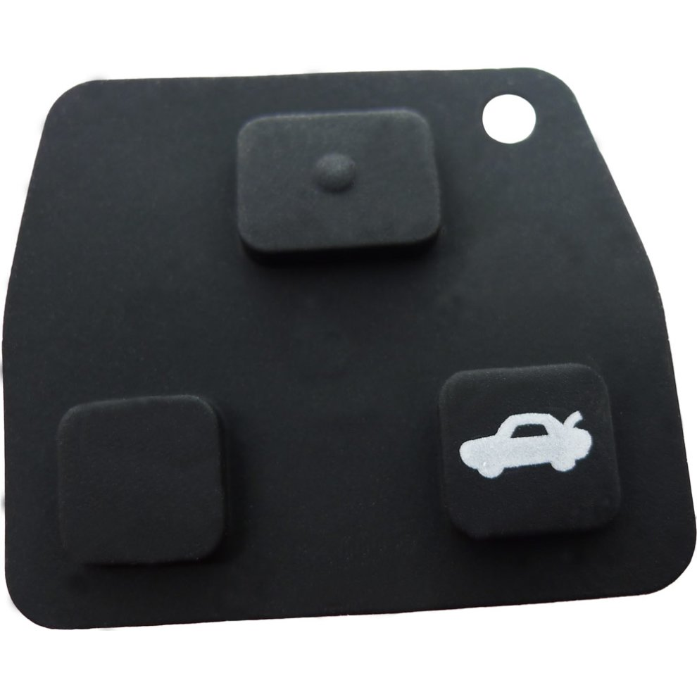 Fits Toyota 3 Button Rubber Pad Remote Key Fob Case Repair