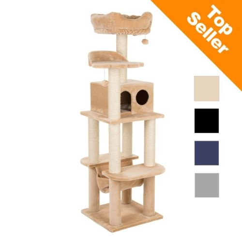 A Sturdy Cat Tree with Sisal Posts Comfy Hammock