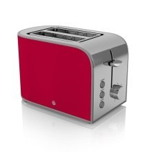 Swan 2 Slice Retro Toaster 800 Watt - Red With Browning Control (ST17020RN)