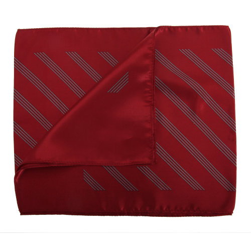 (One Size, Red/Silver) Premier Scarf – Ladies/Womens Four Stripe Business Scarf