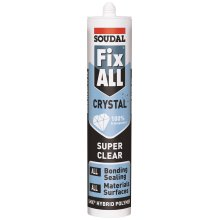 Soudal FixAll Crystal Clear Adhesive / Silicone 290ml