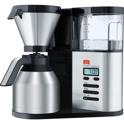 Melitta 1012-04 Aroma Elegance Therm Deluxe Coffee Machine - Black/stainless Steel
