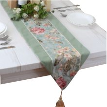 """102"""" by 13"""" Floral Rustic Table Runner Both-side Polyester & Cotton Table-runner"""
