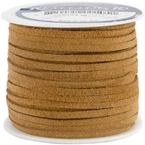"""Realeather Crafts Suede Lace .125""""X25yd Spool-Toast"""