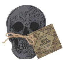Set Of 4 Skull Coasters