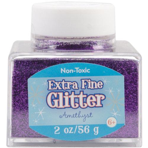 Extra Fine Glitter 2oz-Amethyst
