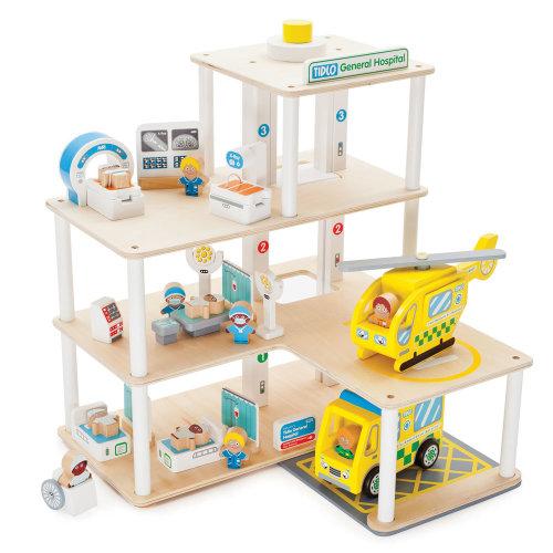 Tidlo Wooden Hospital Playset