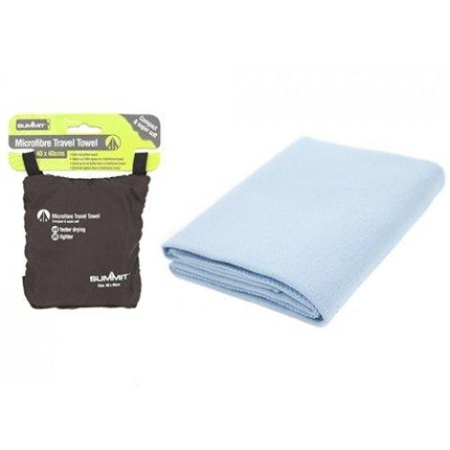 Micro Fibre Trekking Towel In Carry Bag -  towel camping summit micro fibre travel microfibre hiking compact standard sports bath