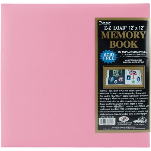 "Pioneer Pastel Leatherette Post Bound Album 12""X12""-Light Pink"
