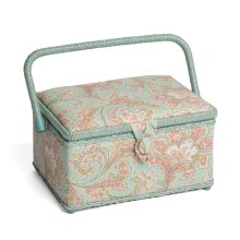Hobbygift Classic Medium Sewing Basket - Paisley - 18.5cm x 26cm x 16cm