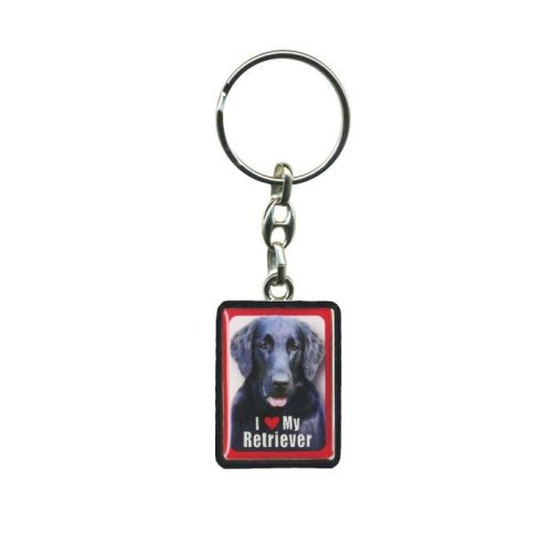 Flat Coated Retriever Dog Keyring