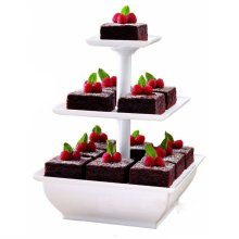 Taylor & Brown 3 Tier White Cake Stand Plastic Cupcake Wedding Party Display Dessert Stand