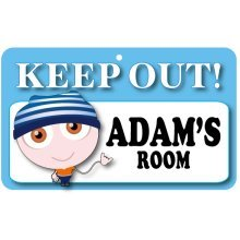 Keep Out Door Sign - Adam's Room