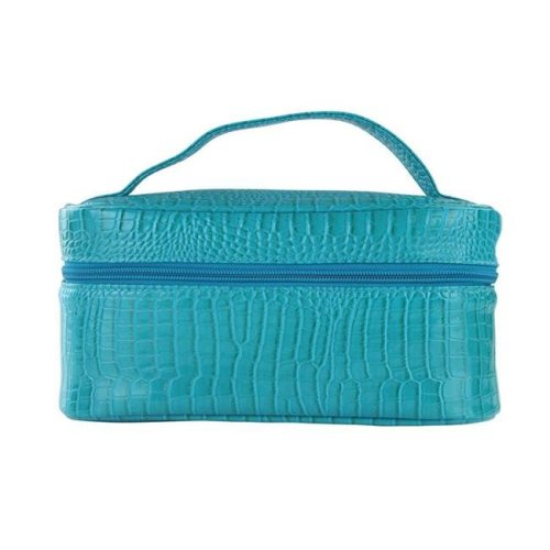 Picnic Gift 7522-BT Lemondrop-Chic & Classy Insulated Cosmetics Bag For The Minimalist Cosmoqueens, Blue Turquoise