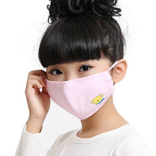 PM2.5 Anti-bacterial Health Care Earloop Mouth Face Mask For Children,Pink