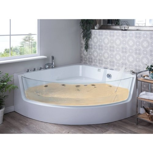 Whirlpool Bath with LED White MARINA
