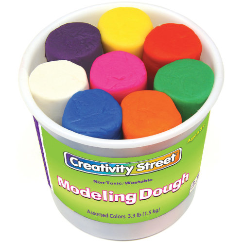 Modeling Dough 4oz 8/Pkg-Assorted Colors