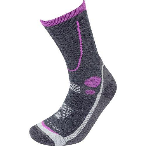 Lorpen Womens T3 Midweight Hiker Socks Charcoal (Small UK 3.5-5.5)