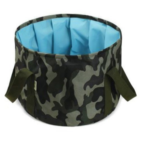 15L Portable Folding Wash Basin Leak-proof Foldable Bucket Footbath Basin with Carrying Pouch #9