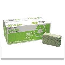 Maxima Green C-fold Hand Towels Green 1ply 15 X 144's