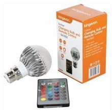 Colour Changing Household Bulb With Remote Control, 5w B22 -  colour changing household bulb remote control 5w b22