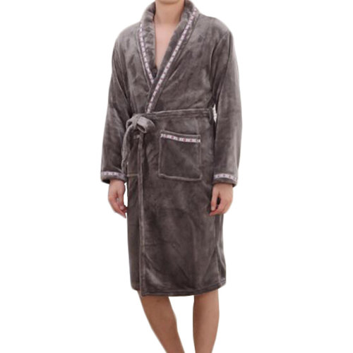 Casual Pajama Set Warm Sleepwear Men/Lovers Flannel Nightgown XX-large-A6