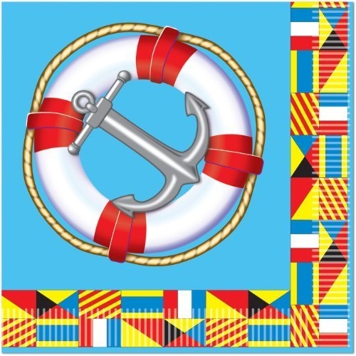 Nautical Luncheon Napkins (2-Ply)    (16/Pkg)
