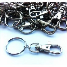 12 x Small Lobster Swivel Clasps With Ring
