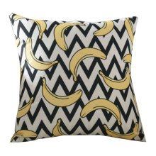 Standard Size Banana Oblique Striped Pattern Fashion Pillow