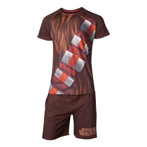 STAR WARS Chewbacca Shortama Nightwear Set, Male, Large, Brown (SI101300STW-L)