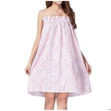 High-grade Thin Khan Steam Bathrobe Bath Skirt Strapless Bathing Dress-A02