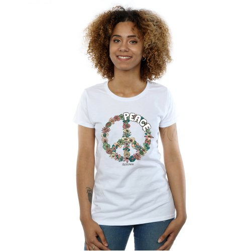 Woodstock Women's Floral Peace T-Shirt