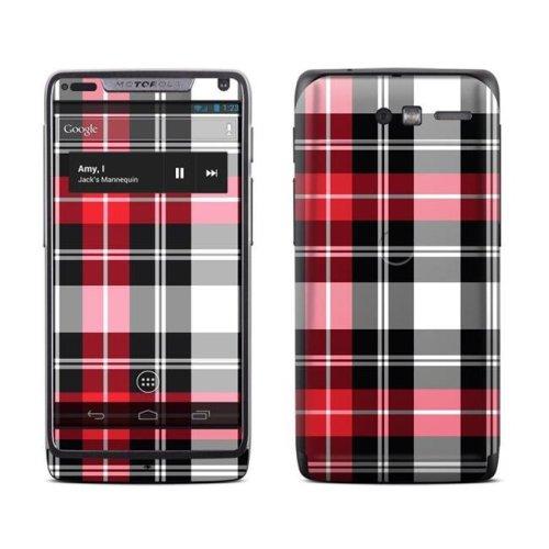 DecalGirl MRZM-PLAID-RED Motorola Razr M Skin - Red Plaid