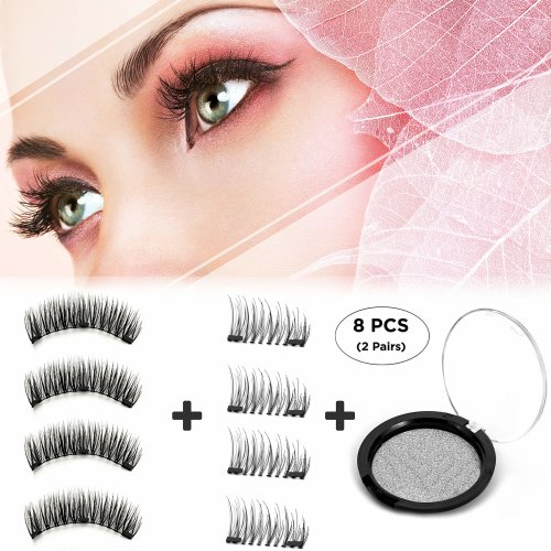 4692f491850 Dkina Magnetic False Eyelashes, Reusable Fiber Magnetic Eyelashes, Magnetic  Lashes of Full Size & Half Size, Free of Glue, Handmade 3D Natural... on  OnBuy