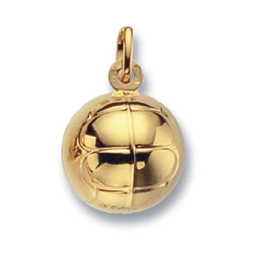 Childrens 9ct gold football pendant on a prince of wales necklace on childrens 9ct gold football pendant on a prince of wales necklace aloadofball Image collections