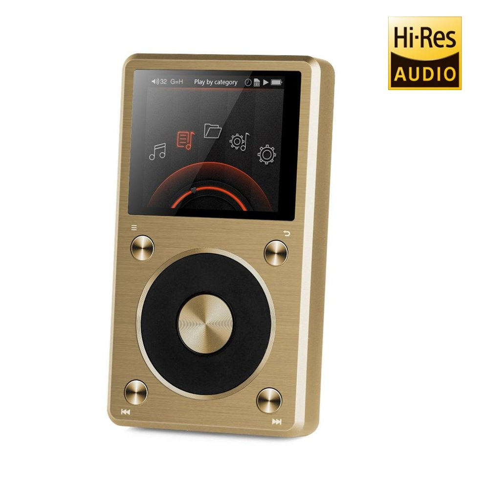 FiiO X5 / X5ii (2nd Generation) High Resolution Digital Lossless Audio  Player and DAC (Gold)