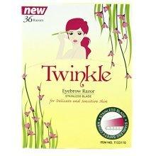 36 Pieces Twinkle (NOT Tinkle) Eyebrow Shaver Razor Bikini Trimmer Shaper Sensitive & Delicate Skin