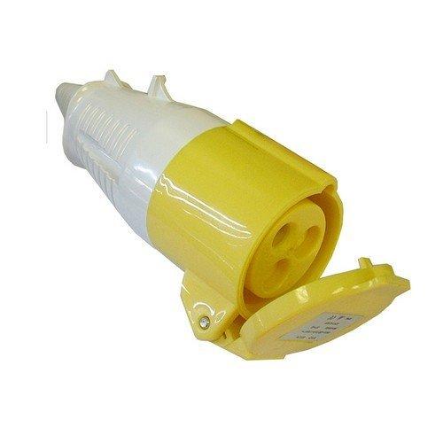 Faithfull FPPSOC32AMP Yellow Socket 32 Amp 110 Volt