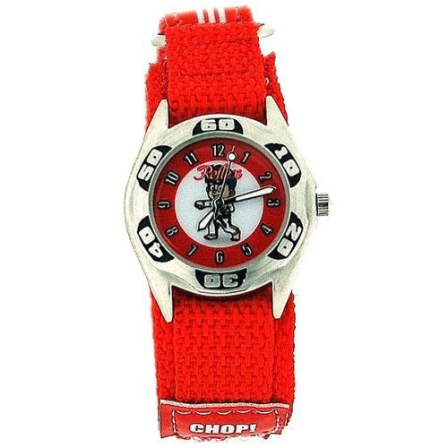 Reflex Quartz Boys Judo - Karate Photo On Dial & Red Velcro Strap Watch KID-0081