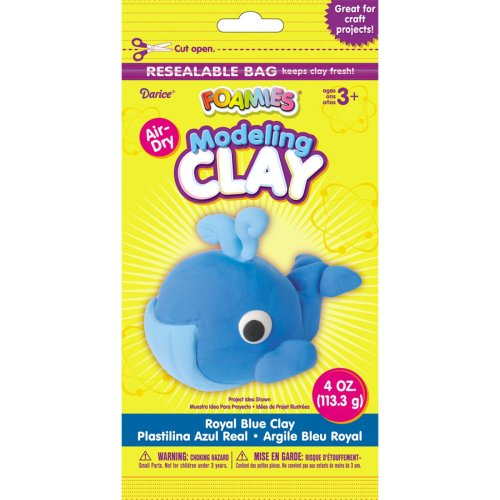 Foamies(R) Air-Dry Modeling Clay 4oz-Royal Blue
